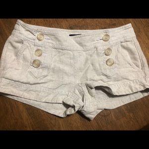 Express khaki linen shorts size 2